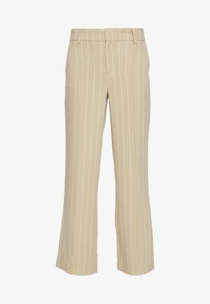 ONQVILMA PINSTRIPE PANT - Trousers - chinchilla/cloud dancer