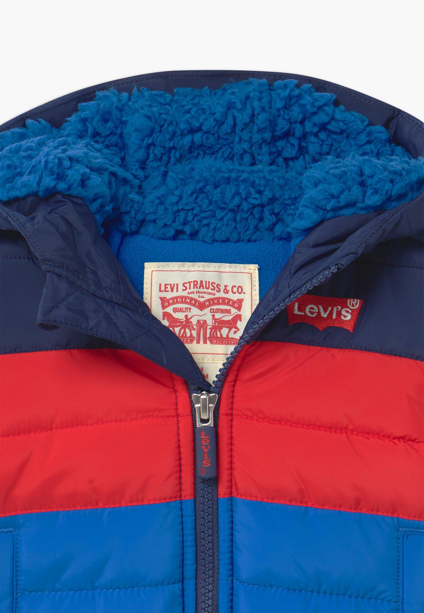 Levi's® COLORBLOCKPUFFER - Kurtka zimowa - prince blue - Ubranka dla dzieci