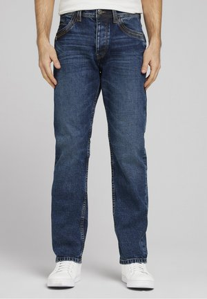 Relaxed fit jeans - mid stone wash denim