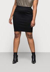 Kaffe Curve - KITY SKIRT - Pencil skirt - black deep - 0