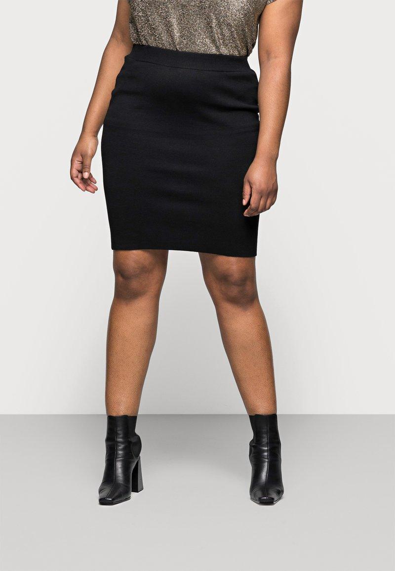 Kaffe Curve - KITY SKIRT - Pencil skirt - black deep