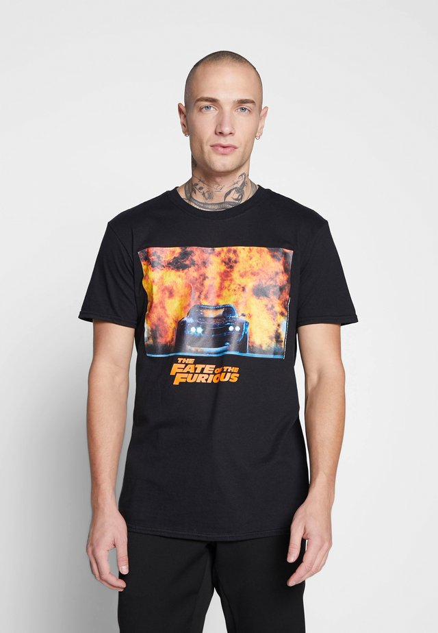 FAST AND THE FURIOUS TEE - Triko s potiskem - black