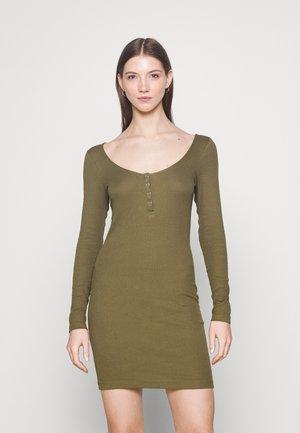 Vestido de punto - dark green
