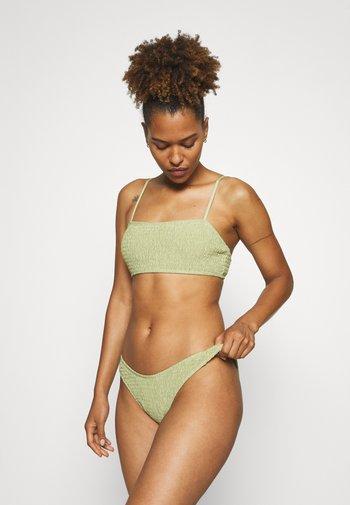SQUARE NECK CRINKLE  - Bikini - sage
