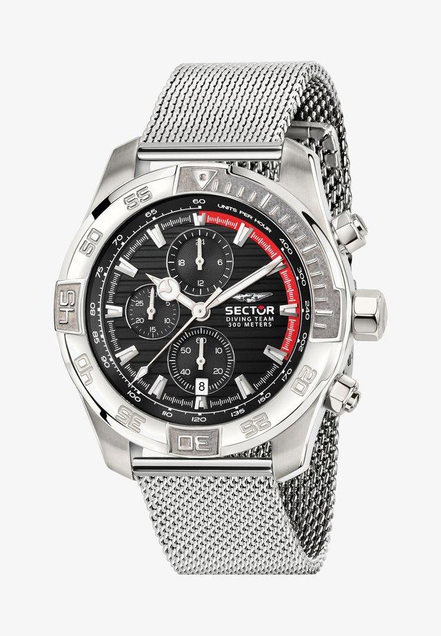 DIVING TEAM  - Chronograph watch - schwarz silber