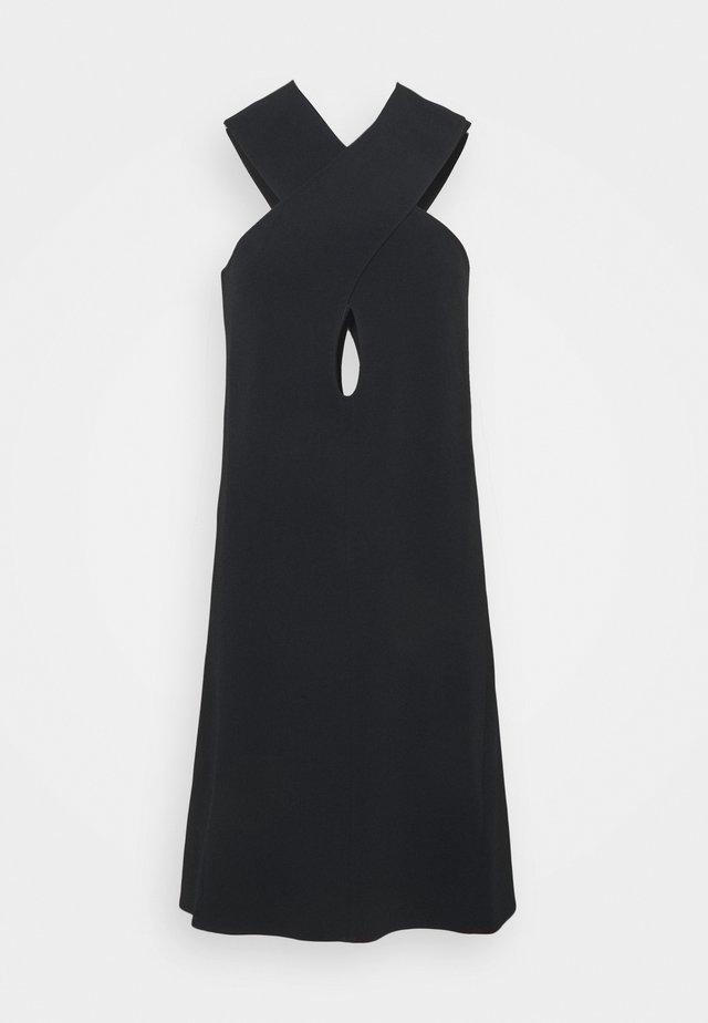CROSS FRONT KEYHOLE MINI - Vestito elegante - black