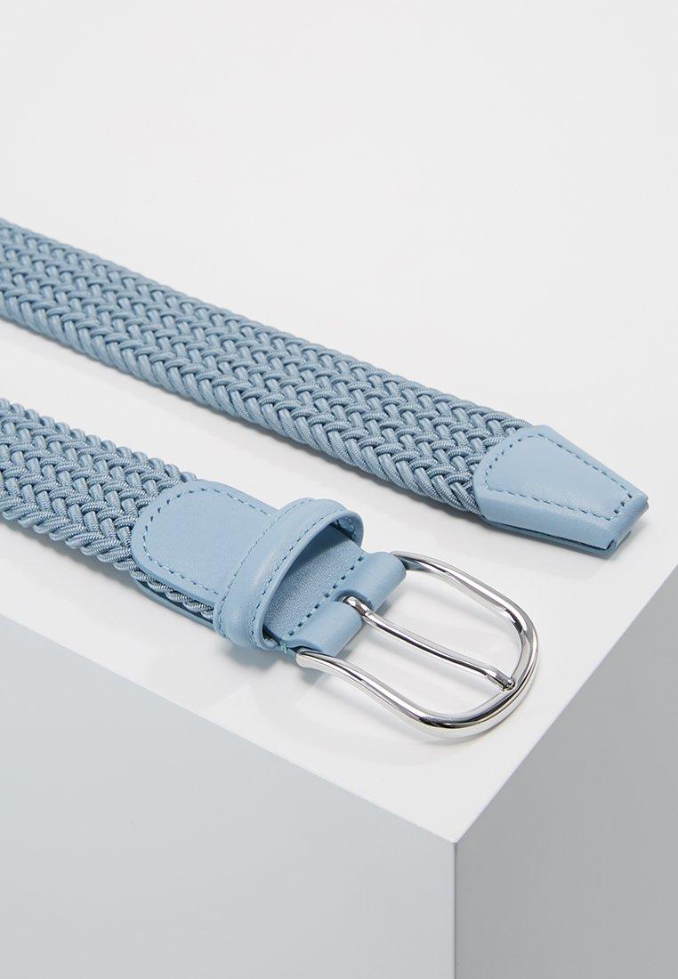 Anderson's BELT - Flettet belte - blue/grey/lyseblå Mcx0JXaq83fH1HV
