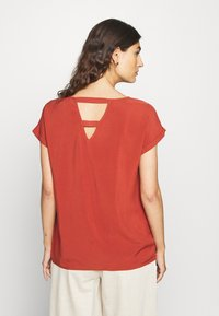 TOM TAILOR DENIM - WITH BACK DETAIL - Blouse - rust orange