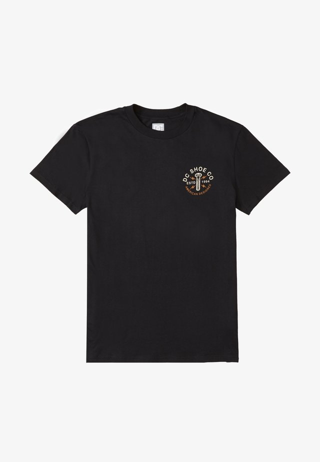 AROUND THE CLOCK - Print T-shirt - black