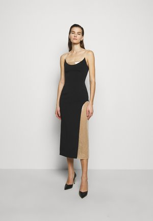 Shift dress - black/beige