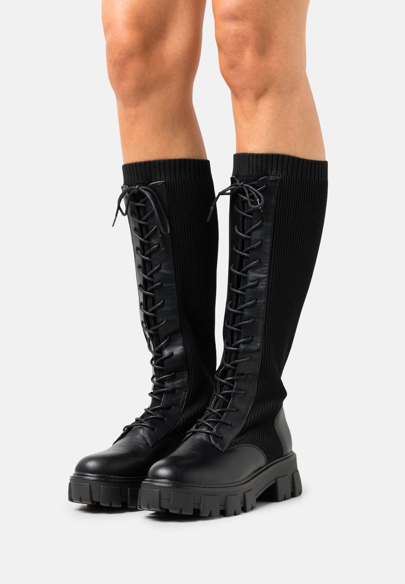 Call it Spring - VEGAN TINSLEYY - Lace-up boots - black