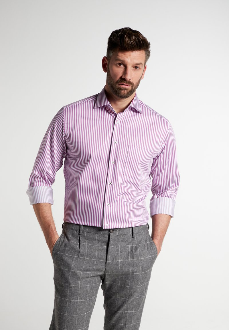 Eterna - MODERN FIT - Shirt - pink/weiss