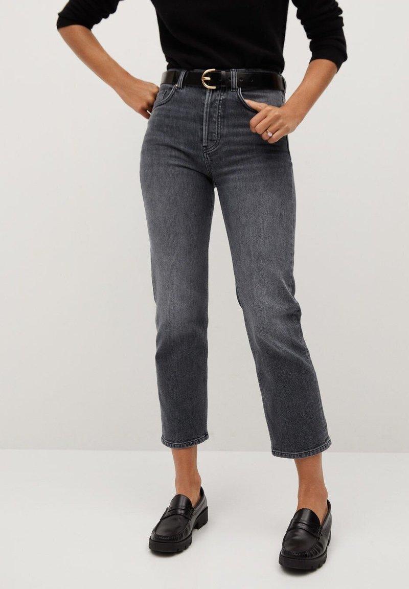 Mango - PREMIUM - Jeans straight leg - open grey