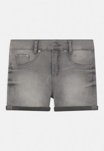 GIRLS HIGH-WAIST - Denim shorts - light grey