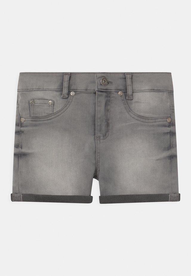 GIRLS HIGH-WAIST - Shorts di jeans - light grey