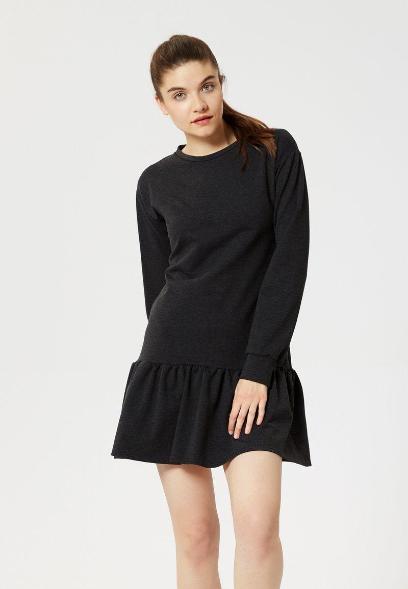 Talence - Vestito di maglina - black