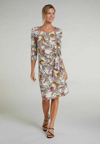Oui - Day dress - offwhite red - 1