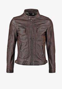 CASEY  - Leather jacket - dark brown