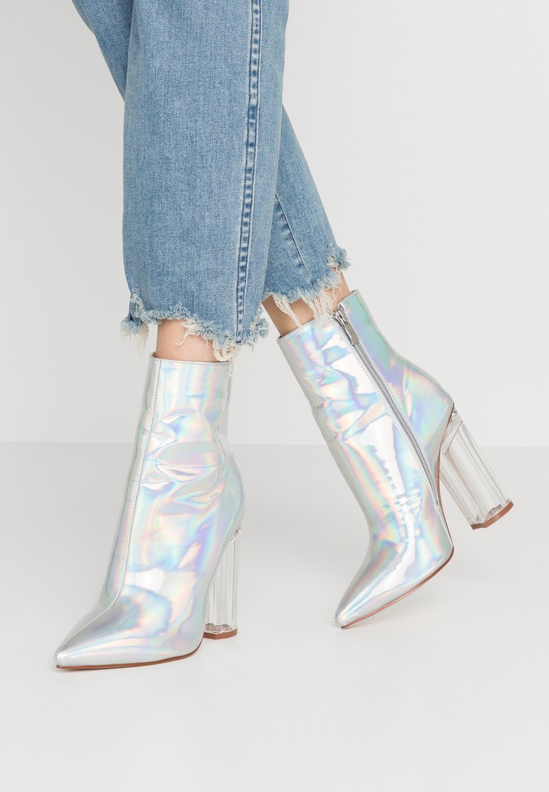 BEBO - ELLIA - Kotníková obuv na vysokém podpatku - silver