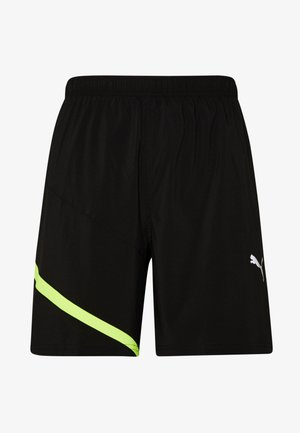 IGNITE BLOCKED SHORT - Urheilushortsit - black/yellow