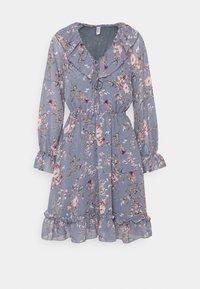 ONLY - ONLMAISIE FRILL DRESS - Day dress - cloud dancer/blueish - 0