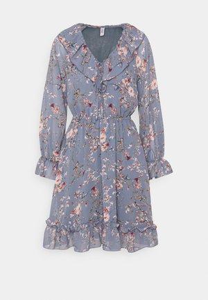 ONLMAISIE FRILL DRESS - Day dress - cloud dancer/blueish