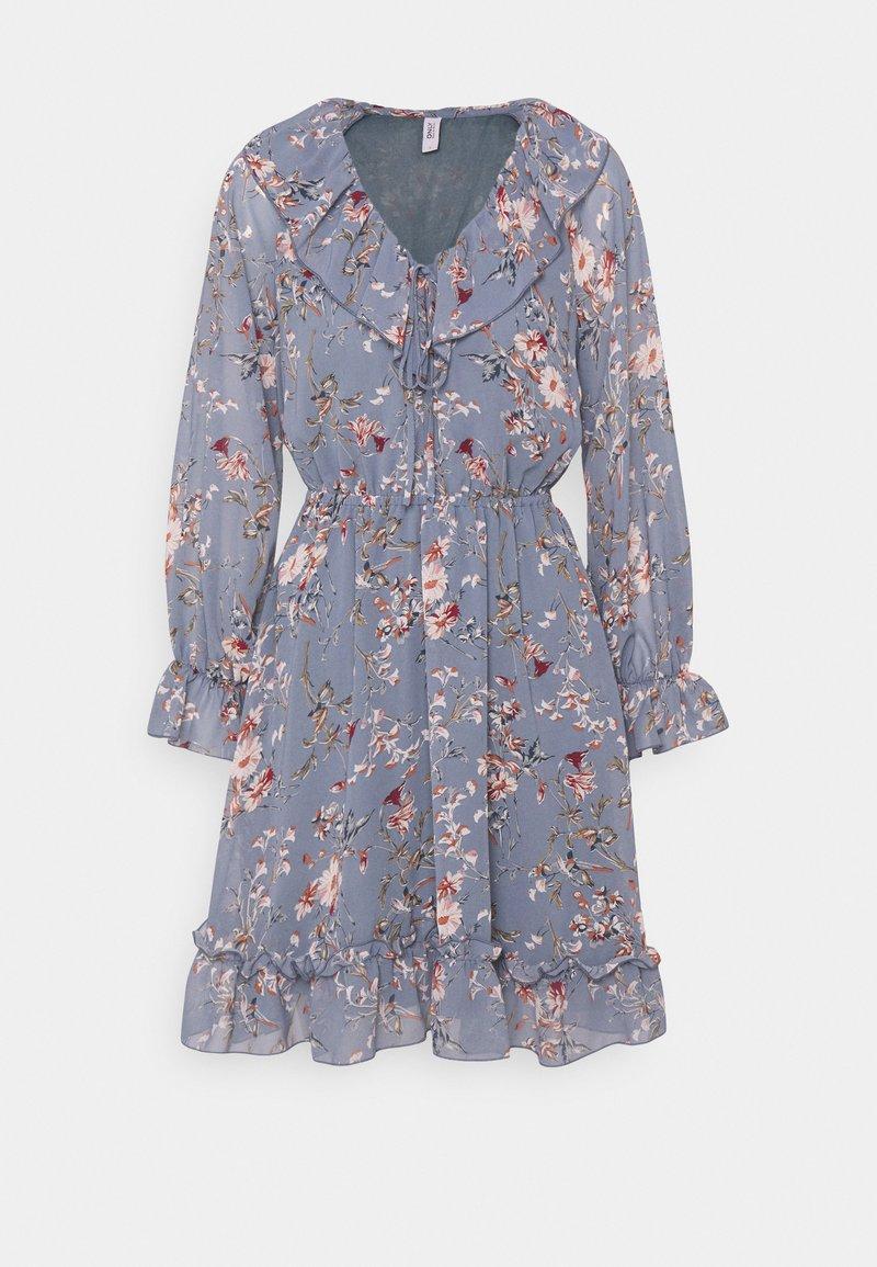 ONLY - ONLMAISIE FRILL DRESS - Day dress - cloud dancer/blueish