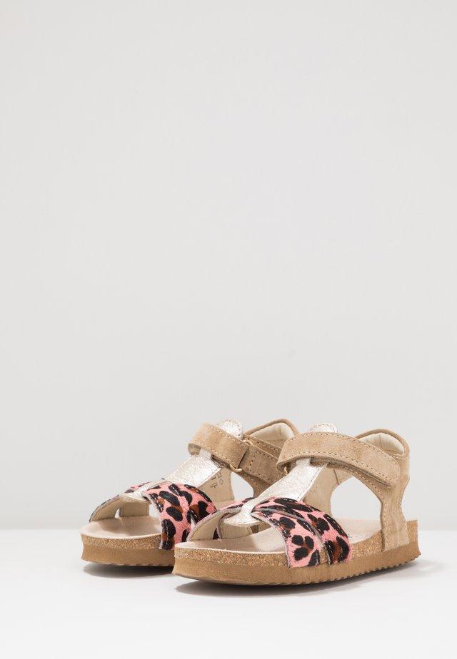 BIO - Sandaalit nilkkaremmillä - beige