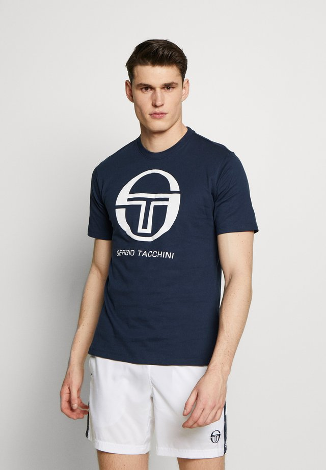 IBERIS - T-shirt z nadrukiem - navy/white