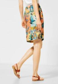 Cecil - A-line skirt - orange - 2