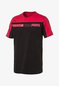 Puma - MAND - Print T-shirt - cotton black-high risk red - 0