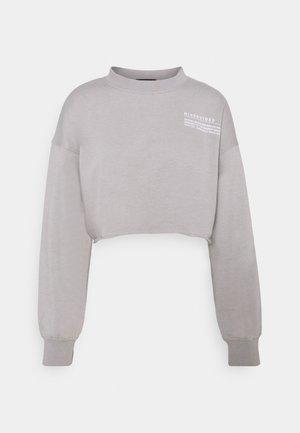 CROPPED RAW HEM - Sweatshirt - light grey