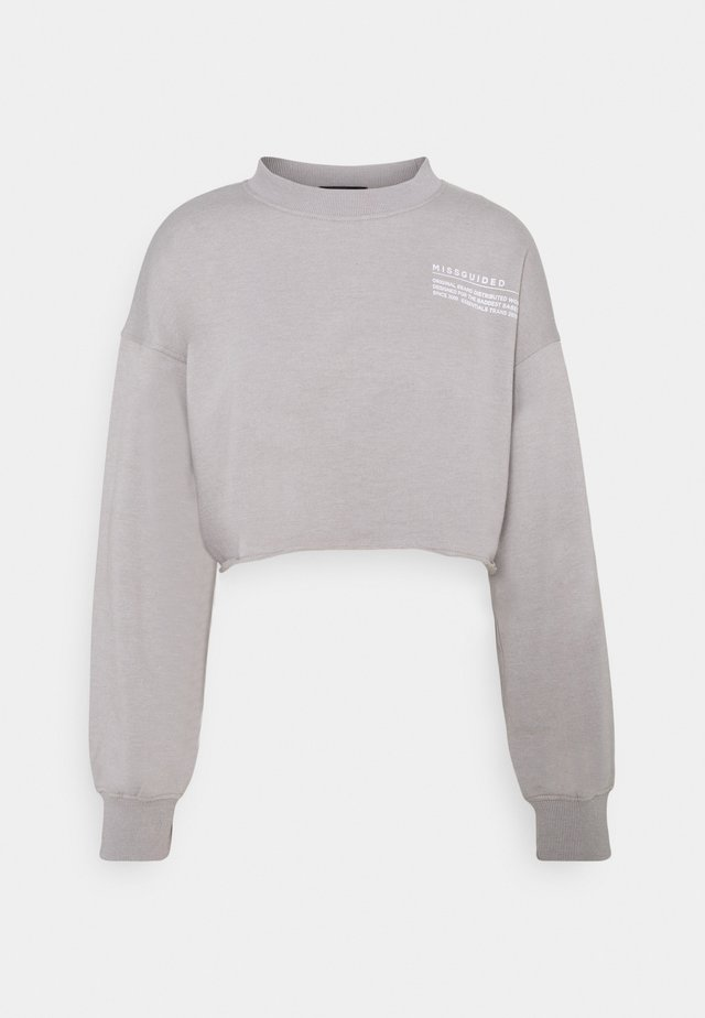 CROPPED RAW HEM - Mikina - light grey
