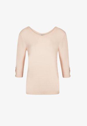 Strickpullover - mottled light pink