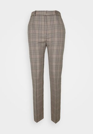 DRAINPIPE CHECK TROUSER - Trousers - cream check