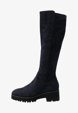 Platform boots - dark blue