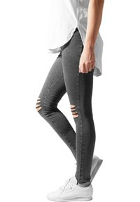 Urban Classics - CUTTED  - Leggingsit - acid black - 3