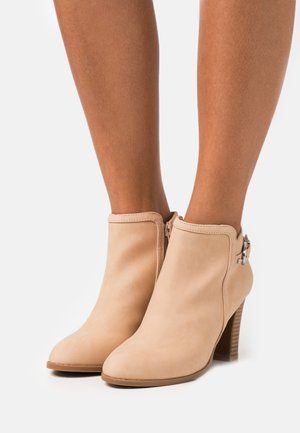 ALICANTE - High heeled ankle boots - beige