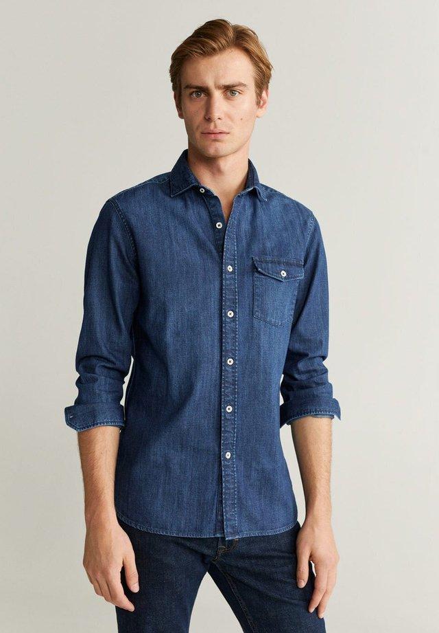 DAVID - Skjorte - dunkelblau