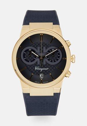 Zegarek chronograficzny - gold-coloured/blue
