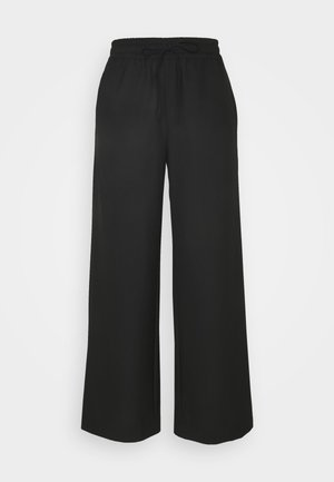 SLFSIA WIDE PANT - Trousers - black