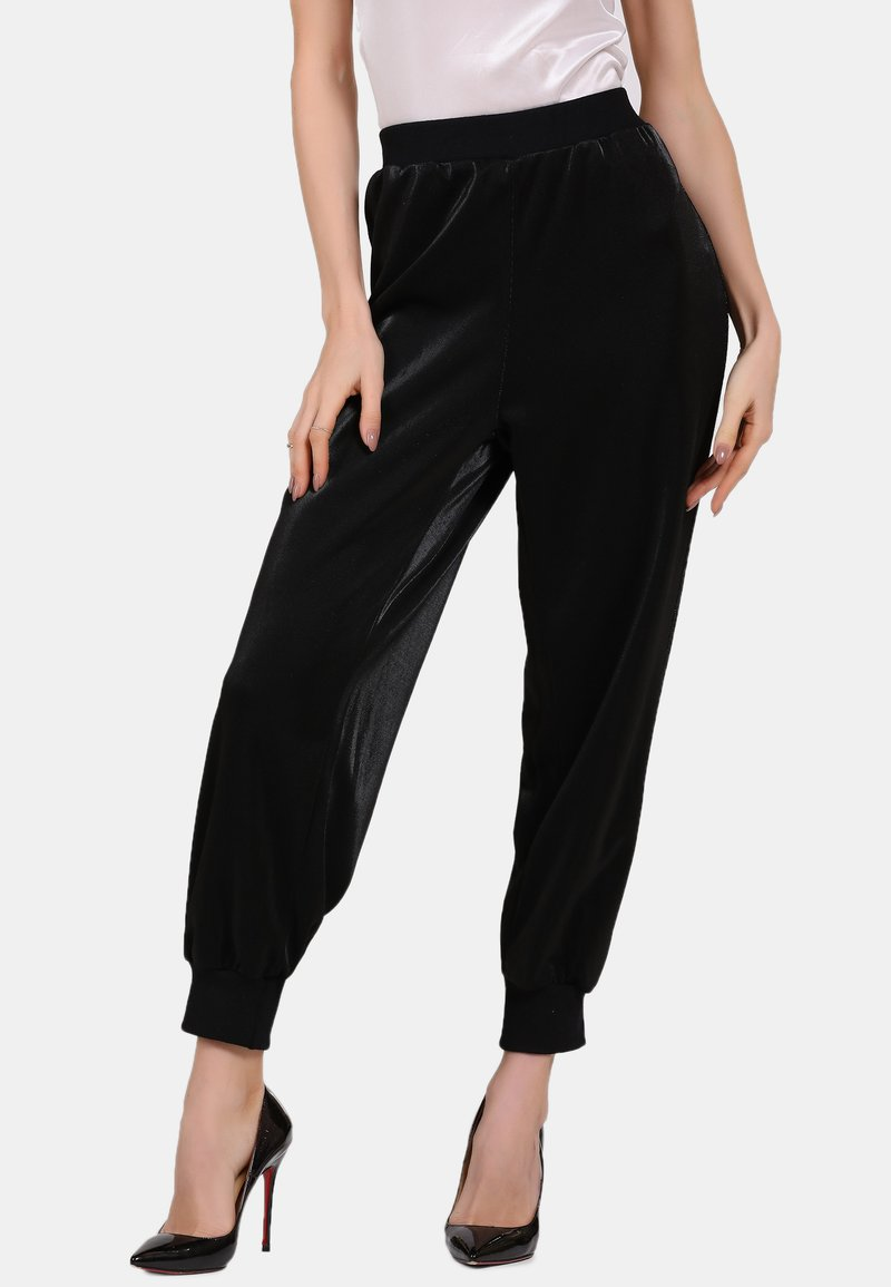 faina - Tracksuit bottoms - black