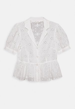 BRODERIE SHORT SLEEVE SHIRT - Bluser - white