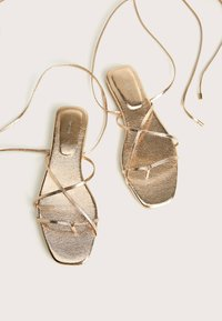 Bershka - Sandals - gold - 6