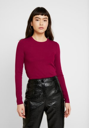 CREW NECK SOLIDS - Long sleeved top - dark fuschia