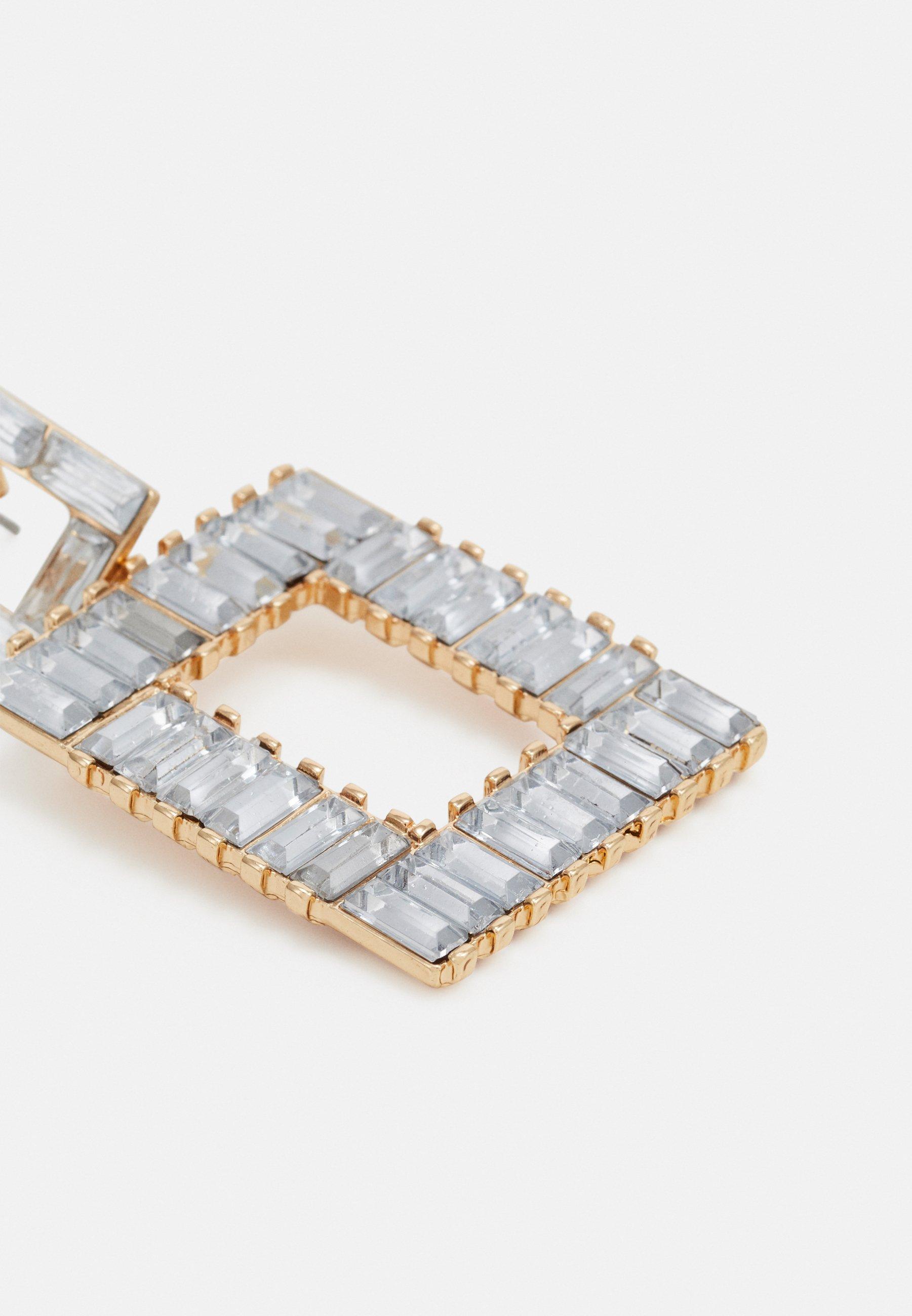 Pieces PCMERIELA EARRINGS - Øredobber - gold-coloured/clear/transparent IBaSceLp3usX0h6