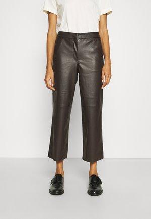 PANTS - Trousers - dark oak brown