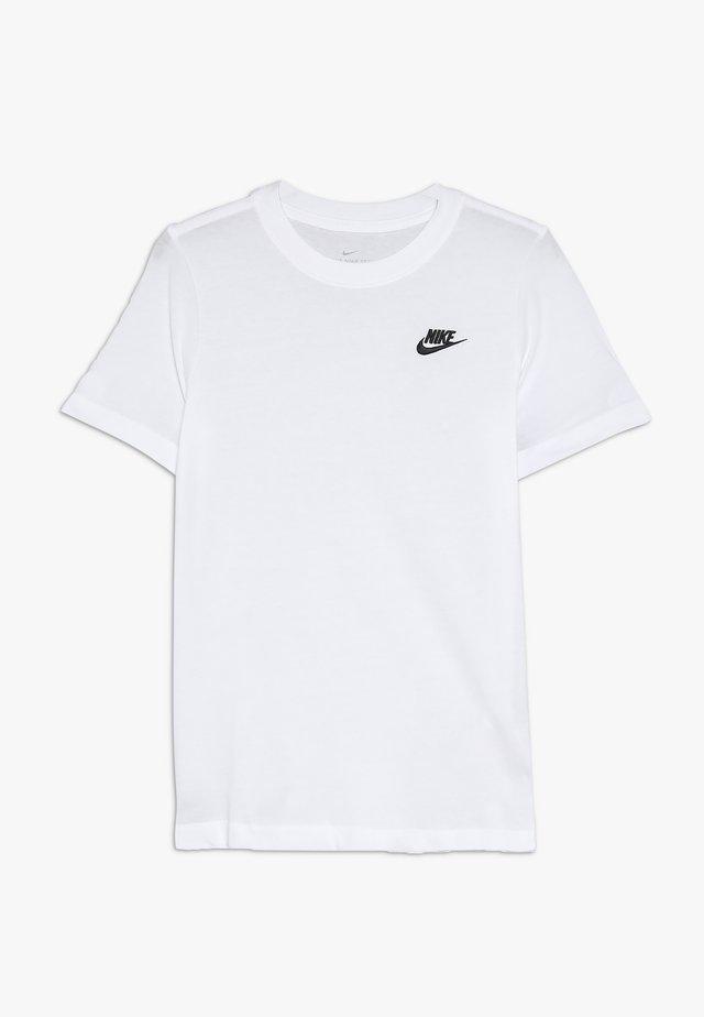 TEE FUTURA - Basic T-shirt - white/black