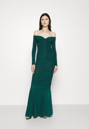 RUCHED FISHTAIL - Occasion wear - dark green