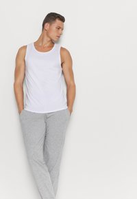Pier One - 2 PACK - Pyjama bottoms - mottled dark grey/mottled grey - 4